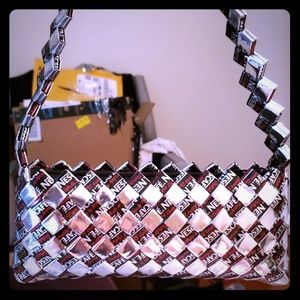 Handbags - One of a kind bag made out of recycled wrappers